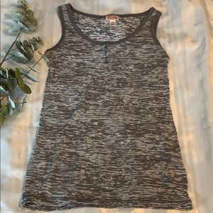 NWOT Mossimo gray and white tank top